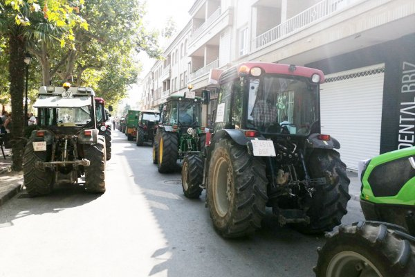 Detalle de la tractorada en Requena (Valencia). (photo: )